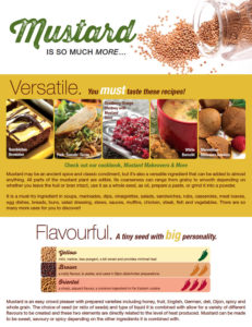 Mustard is so much more ... Download Mustard Flyer