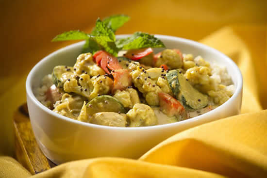 Coconut Curried Chicken & Vegetables