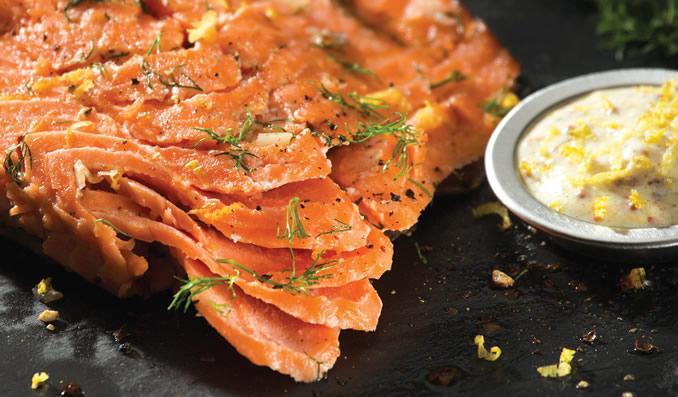 Salmon with Savoury Mustard Sauce