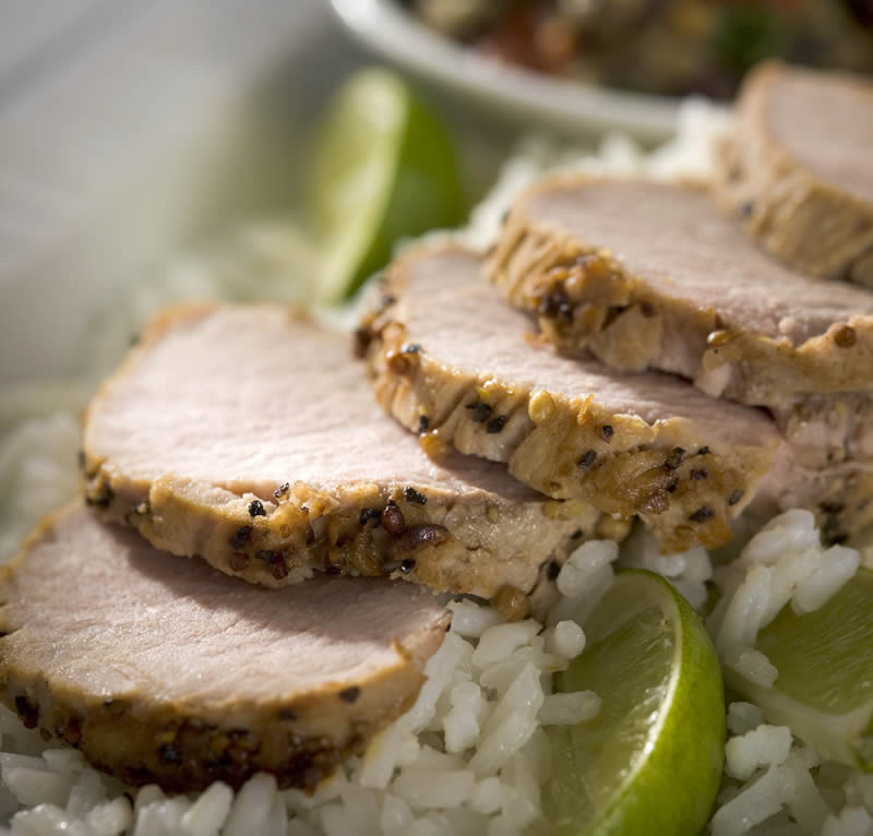 Mustard, Rum & Maple Marinated Pork Tenderloin