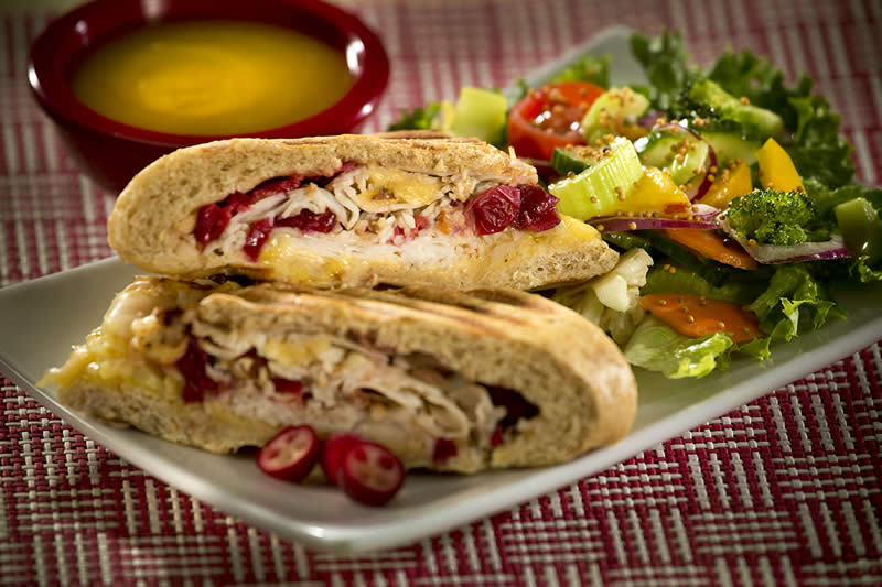 Turkey & Smoked Gouda Panini with Cranberry Butter