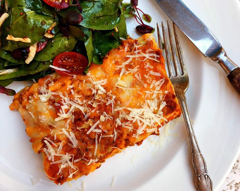 Mustard Cheeseburger Lasagna
