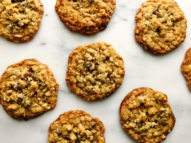 Sweet & Savoury Mustard Cranberry Cookies