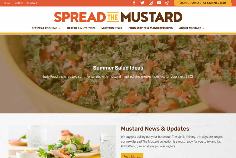 Spread The Mustard website is now live at SpreadTheMustard.com